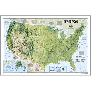 Map Worldca Product Info - Us physical map